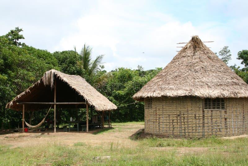 Indische hutten stock afbeeldingen