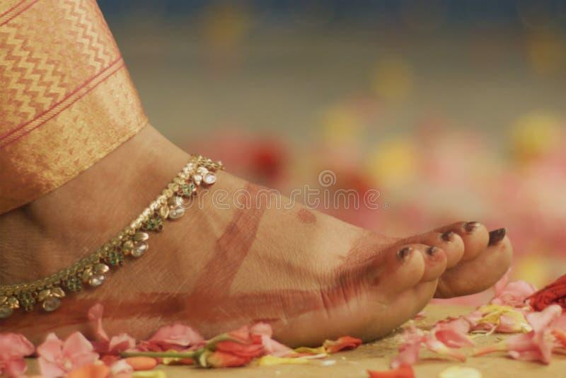 Indische huwelijksceremonie - details royalty-vrije stock fotografie