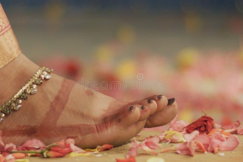 Indische huwelijksceremonie - details royalty-vrije stock foto