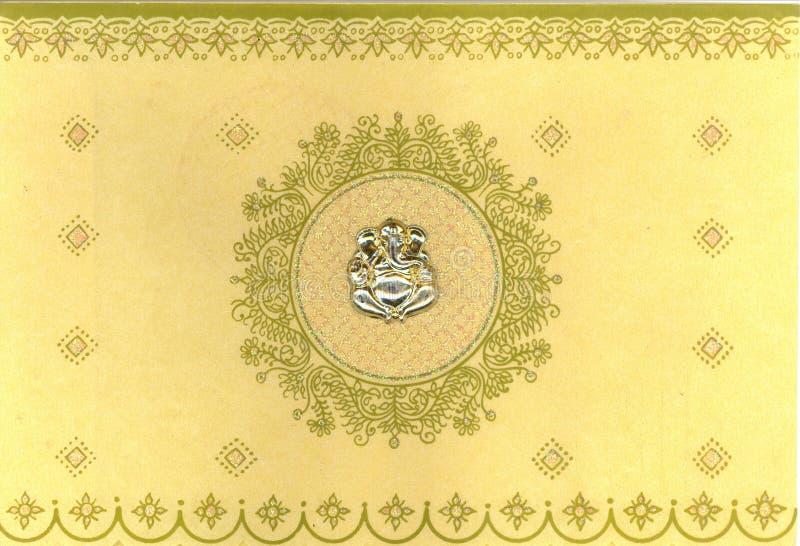 Indische huwelijkskaart royalty-vrije illustratie