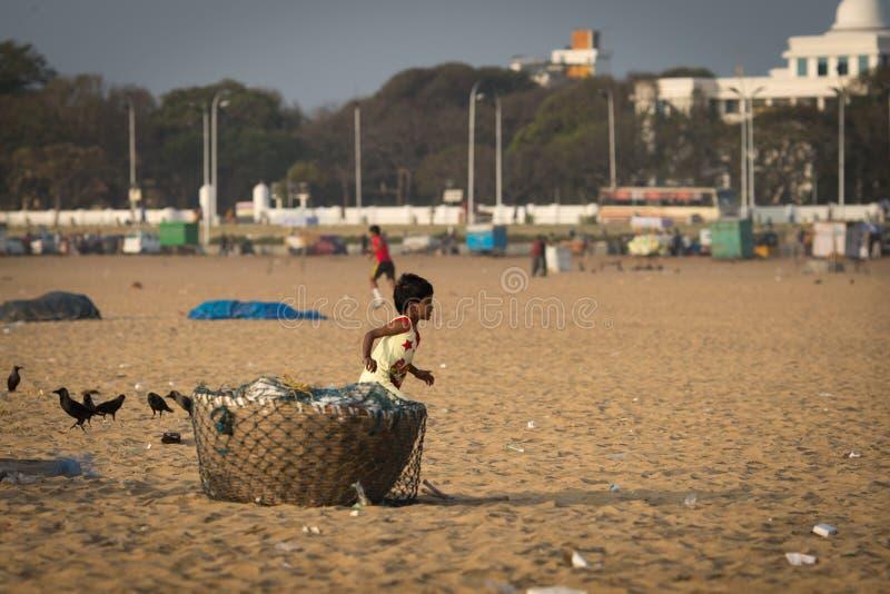 Indische jongenslooppas stock foto