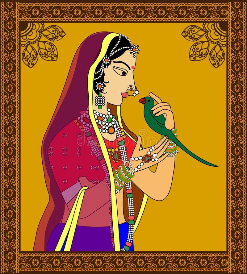 Indische Königin/Prinzessinporträt vektor abbildung