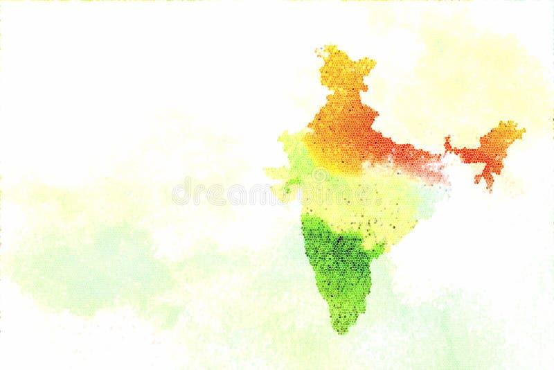 Indische Kaart royalty-vrije stock foto