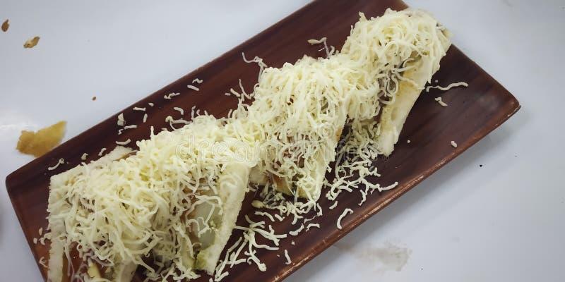 Indische kaassandwich stock afbeelding