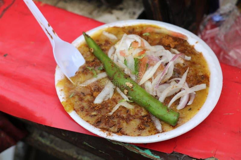 Indische Keuken - Chole Kulche royalty-vrije stock afbeeldingen