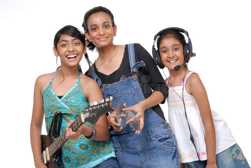 Indische Kindermusik-Band stockbild