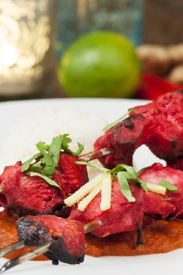 Indische Kip Tikka stock afbeelding