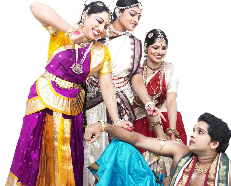 Indische klassieke dansers royalty-vrije stock fotografie
