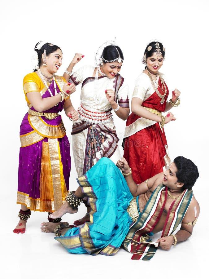 Indische klassieke dansers stock foto