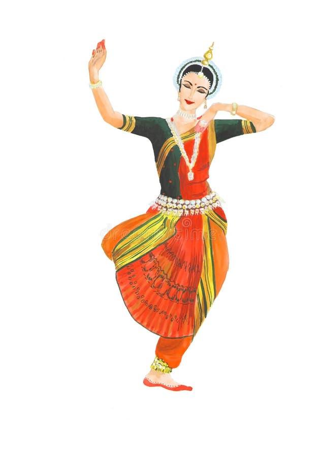 Indische klassieke vrouwelijke danser royalty-vrije stock foto