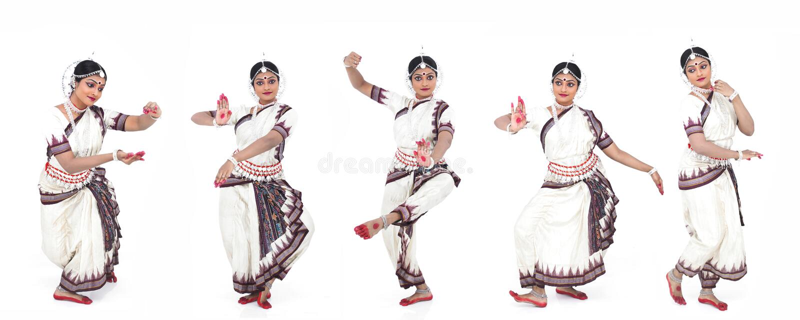 Indische klassieke vrouwelijke danser royalty-vrije stock afbeeldingen
