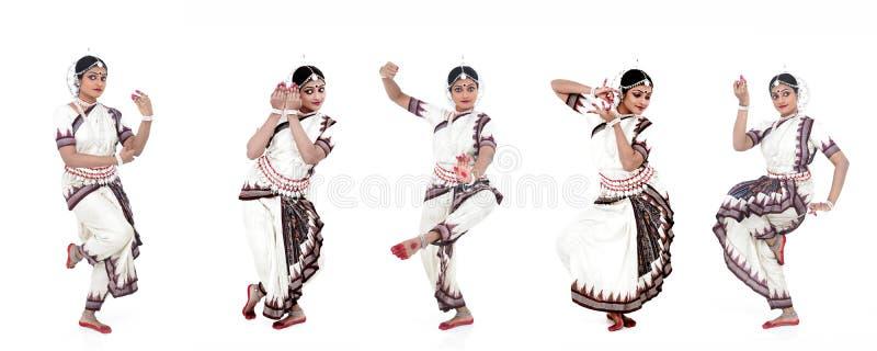 Indische klassieke vrouwelijke danser stock afbeelding