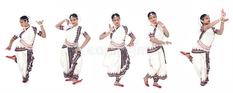 Indische klassieke vrouwelijke danser stock afbeeldingen
