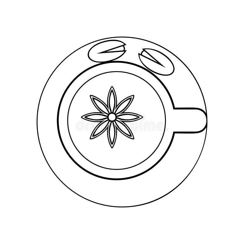 Indische koffie met pistaches en kruidenpictogram Element van India voor mobiel concept en webtoepassingenpictogram Overzicht, du stock illustratie