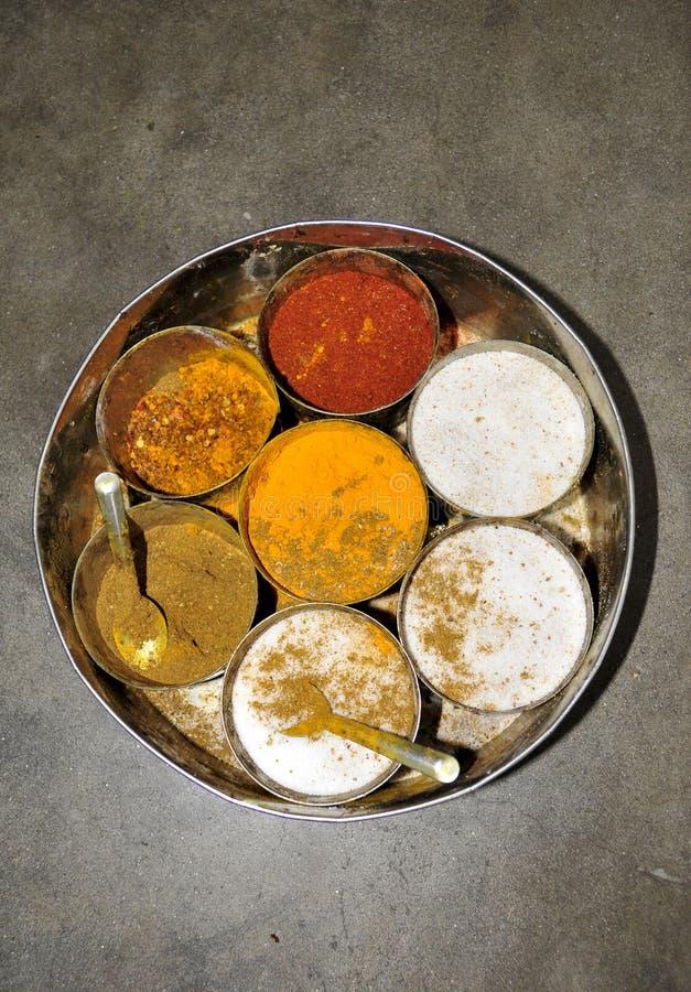 Indische kruidendoos royalty-vrije stock afbeeldingen