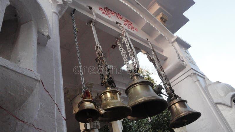Indische Kultur-Religions-religiöse Anbetung Tempelglockenindiens stockfoto