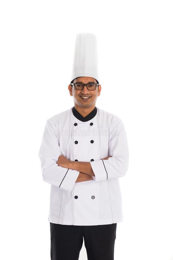 Indische mannelijke chef-kok royalty-vrije stock foto