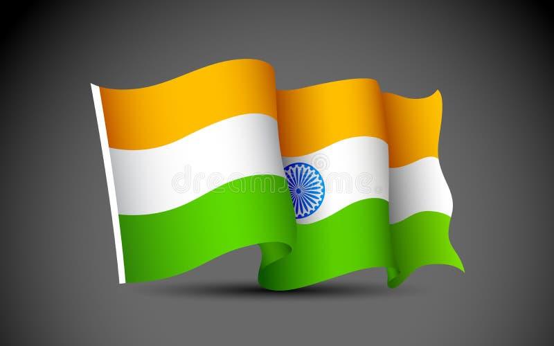 Indische Markierungsfahne vektor abbildung