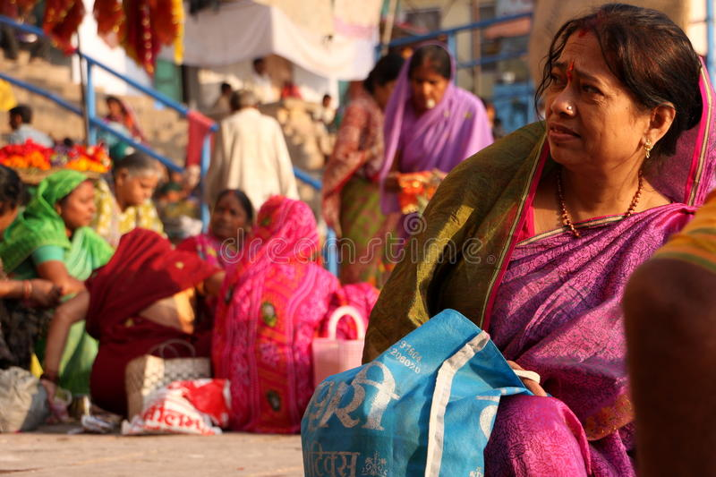 Indische markt stock foto's