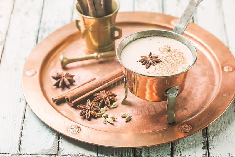 Indische Masala Chai Tea royalty-vrije stock foto's