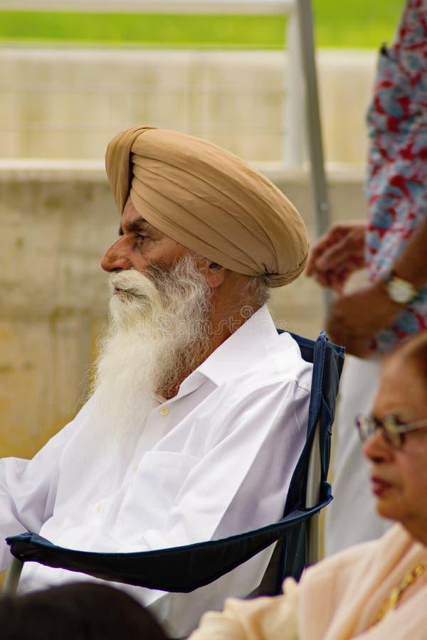 Indische Mens met een Tulband stock foto's