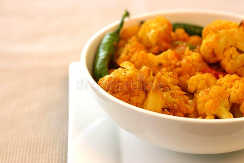 Indische Nahrungsmittelserie - Blumenkohl stockfoto