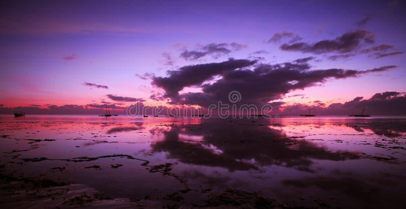 Indische Oceaan Dawn royalty-vrije illustratie