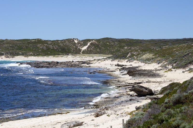 Indische Oceaan in Margaret River Western Australia in de vroege zomer royalty-vrije stock afbeeldingen