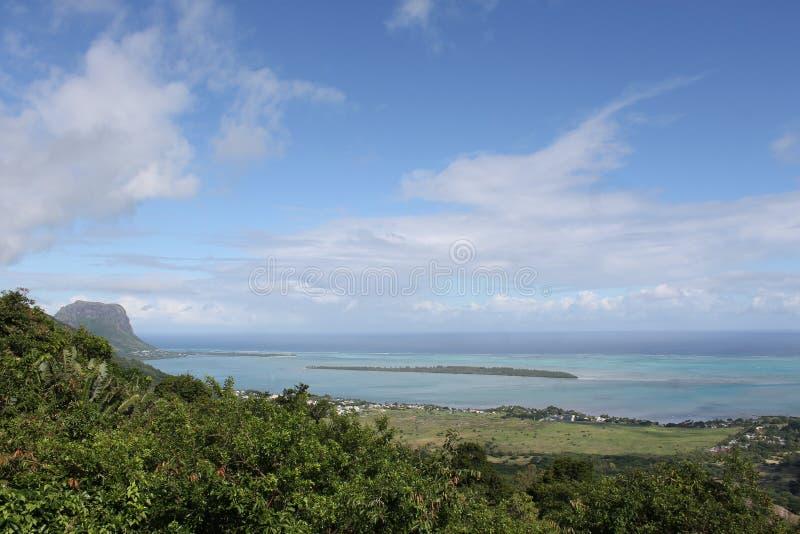 Indische Oceaan, Mauritius royalty-vrije stock afbeelding