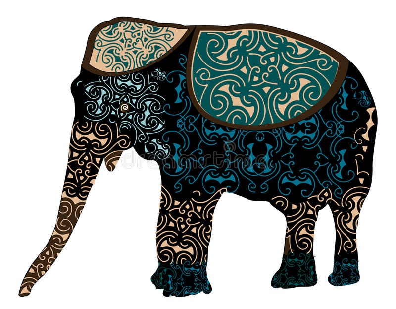 Indische olifant royalty-vrije illustratie
