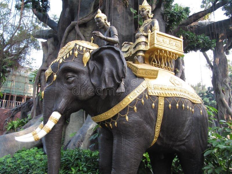 Indische olifant stock afbeelding