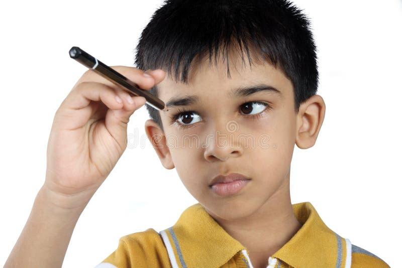 Indische ongehoorzame jongen royalty-vrije stock afbeelding