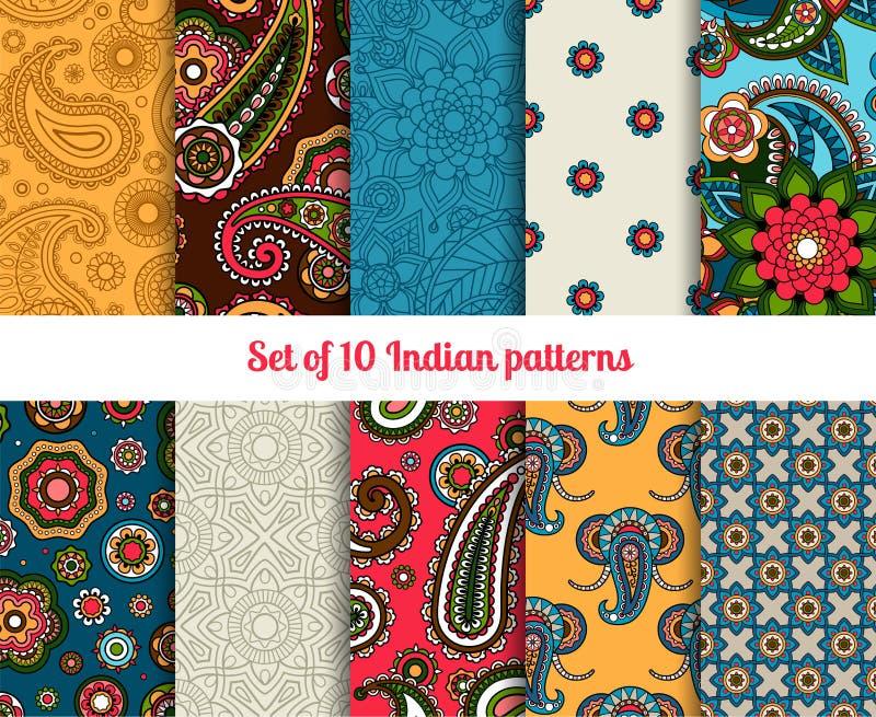 Indische patroonreeks royalty-vrije illustratie