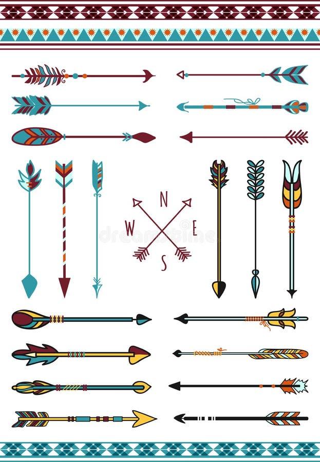 Indische Pfeile für Hippie-Dekor vektor abbildung