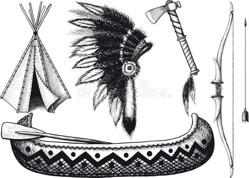 Indische pictogramreeks royalty-vrije illustratie