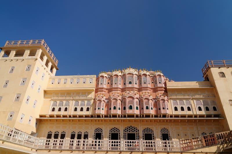 Indische prachtige voorbeelden van architectuur - Hawa Mahal Palace in Jaipur royalty-vrije stock foto