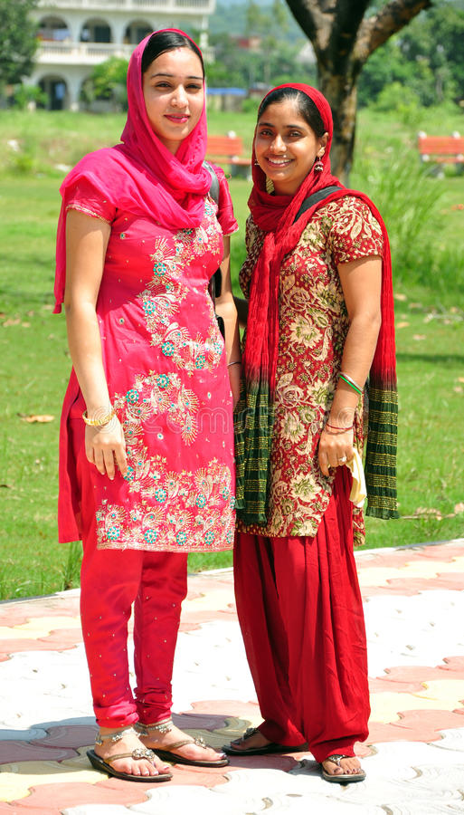 Indische Punjabimädchen lizenzfreie stockfotos