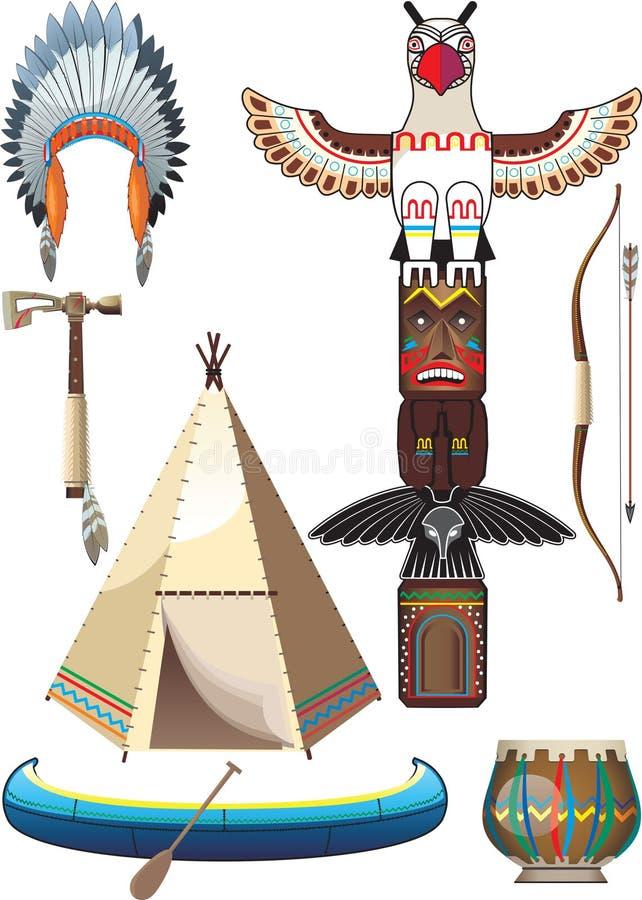 Indische Reeks vector illustratie
