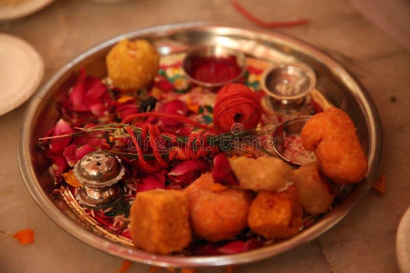 Indische rituelen stock foto's