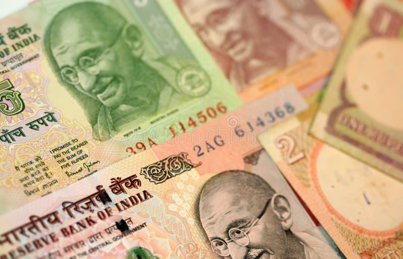 Indische Rupien lizenzfreies stockbild