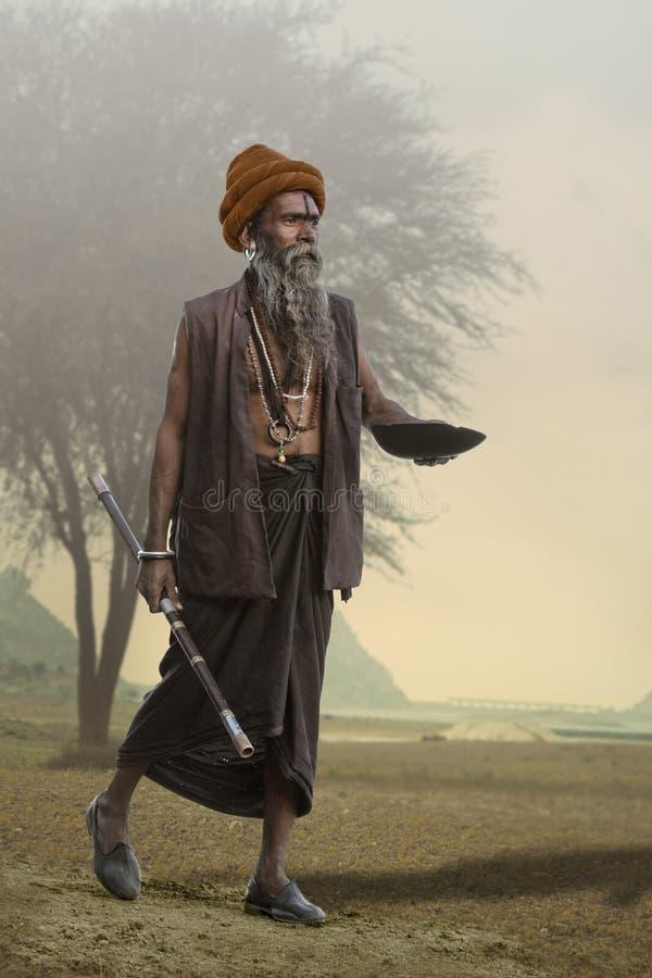 Indische Sadhu stock afbeelding