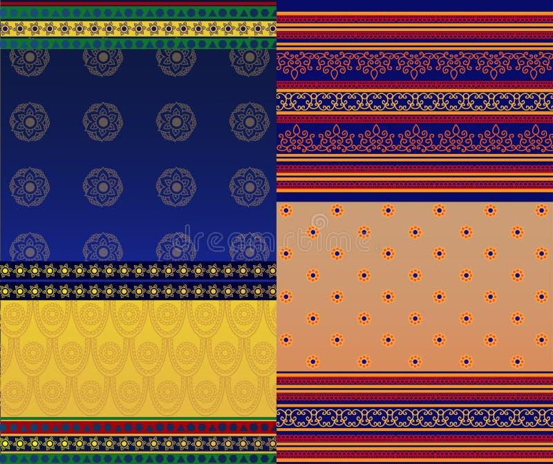 Indische Sari Design stock illustratie