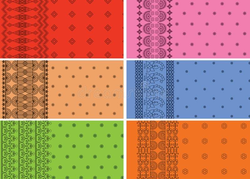 Indische Sari-Ränder stock abbildung