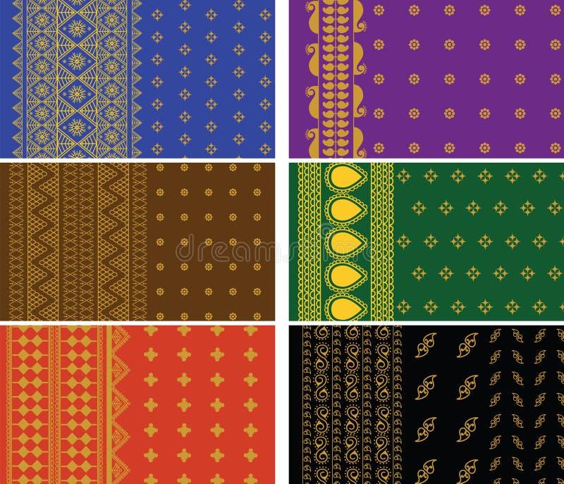 Indische Sari-Ränder lizenzfreie abbildung