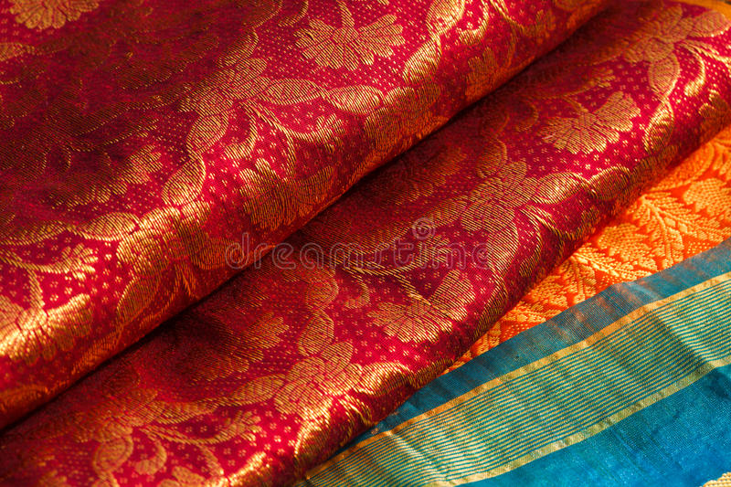 Indische Saris stockfotos