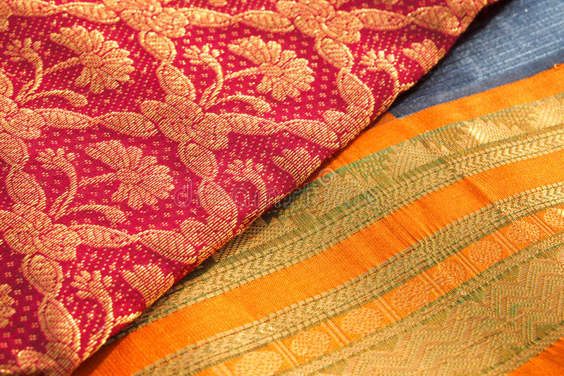 Indische Saris lizenzfreie stockfotos