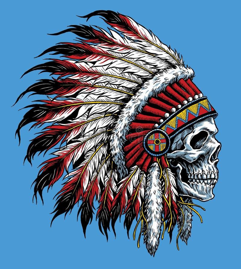 Indische schedel vectorillustratie royalty-vrije illustratie