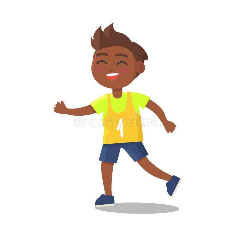 Indische Schooljongen in Sport Eenvormig met Aantal  vector illustratie