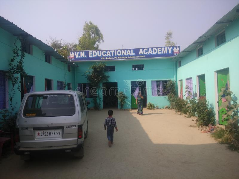 Indische Schule im Dorf lizenzfreie stockfotografie