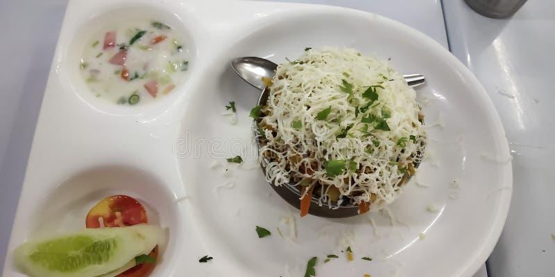 Indische smakelijke voedselschotel royalty-vrije stock afbeelding